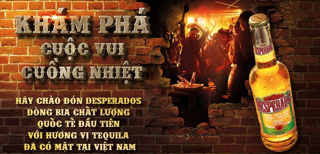 Desperados - Dòng bia mang hương vị Tequila đã đến Việt Nam