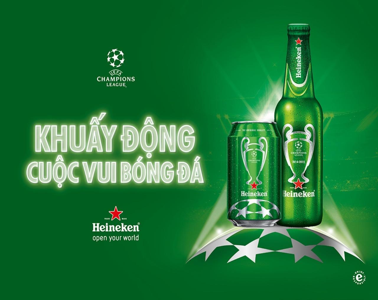 """Heineken """"Khuấy động cuộc vui bóng đá"""" cùng hành trình UEFA Champions League 2015"""
