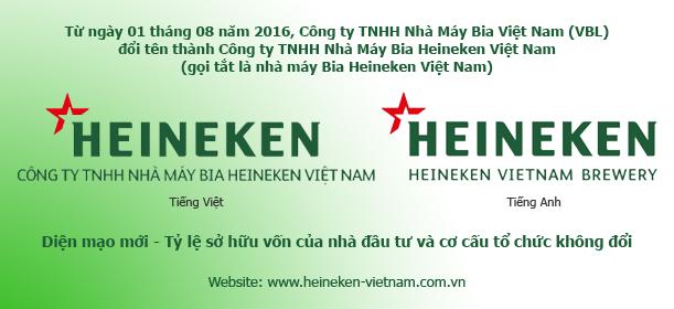 Công ty TNHH Nhà Máy Bia Việt Nam Đổi Tên & Giới Thiệu Diện Mạo Mới