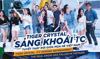Tiger Crystal -1C intense refreshment, the real snow has fallen in Vietnam