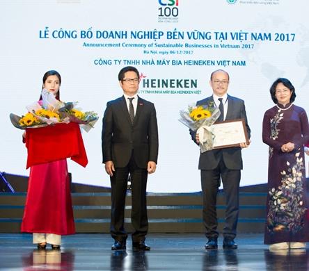 Heineken Việt Nam được vinh danh là doanh nghiệp sản xuất bền vững số 1 Việt Nam